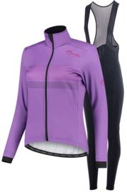 Rogelli Purpose/Nero dames winter fietskledingset - paars/zwart