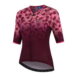 Rogelli Animal dames fietsshirt korte mouwen – bordeaux/roze (eco)