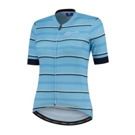 Rogelli Stripe dames fietsshirt korte mouwen - blauw