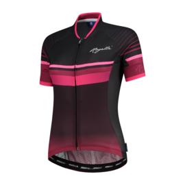 Rogelli Impress dames fietsshirt korte mouwen – bordeaux/roze