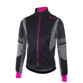 Rogelli Bliss dames winter fietsjack - zwart/grijs/roze
