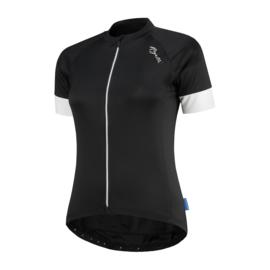 Rogelli Modesta dames fietsshirt korte mouwen - zwart/wit