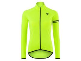 AGU Essential Thermo dames fietsshirt lange mouwen - fluor