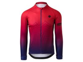 AGU Trend Mountain heren fietsshirt lange mouwen - rood