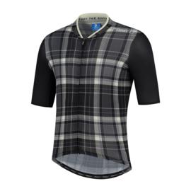 Rogelli Style fietsshirt korte mouwen - zwart/grijs (eco)