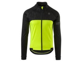 AGU HIVIS heren winter fietsjack - zwart/fluor