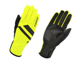 AGU Essential Windproof winter fietshandschoenen - fluor/zwart