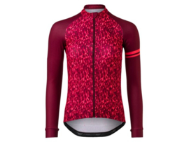 AGU Essential dames fietsshirt lange mouwen - neon coral