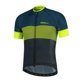 Rogelli Boost fietsshirt korte mouwen - blauw/fluor