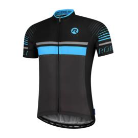 Rogelli Hero fietsshirt korte mouwen - grijs/zwart/blauw