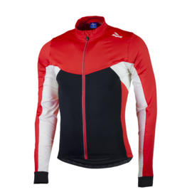 Rogelli Recco 2.0 kinder fietsshirt lange mouwen - zwart/rood/wit