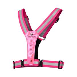 Rogelli hardloop veiligheidsvest met LED-verlichting - roze