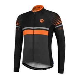 Rogelli Hero heren fietsshirt lange mouwen - grijs/zwart/oranje