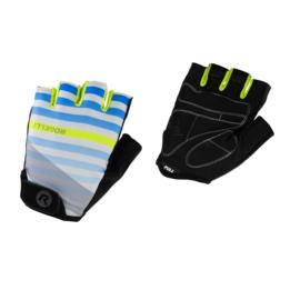Rogelli Stripe zomer fietshandschoenen – grijs/fluor/blauw