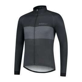 Rogelli Boost heren fietsshirt lange mouwen - zwart/grijs