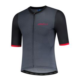 Rogelli Valor fietsshirt korte mouwen - zwart/grijs/rood