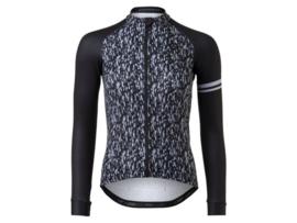 AGU Essential dames fietsshirt lange mouwen - zwart/wit