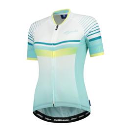Rogelli Impress dames fietsshirt korte mouwen – turquoise/geel
