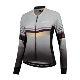 Rogelli Impress dames fietsshirt lange mouwen – grijs/goud