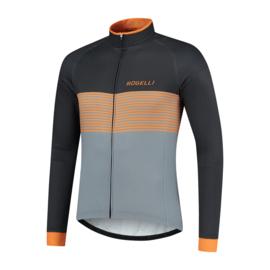 Rogelli Boost heren fietsshirt lange mouwen - grijs/oranje