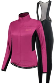 Rogelli Barrier/Nero dames winter fietskledingset - roze/zwart