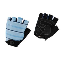 Rogelli Stripe dames zomer fietshandschoenen - blauw/zwart