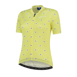 Rogelli Daisy dames fietsshirt korte mouwen - geel
