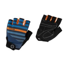 Rogelli Stripe zomer fietshandschoenen – blauw/oranje