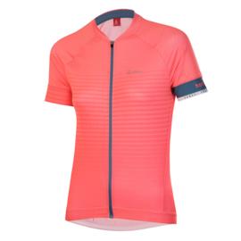 Löffler FZ Hotbond dames fietsshirt korte mouwen - coral