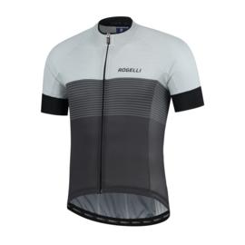 Rogelli Boost fietsshirt korte mouwen - zwart/wit/grijs