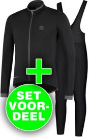 Rogelli Essential/Basic winter fietskledingset - zwart