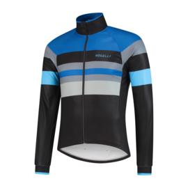 Rogelli Peak heren winter fietsjack - zwart/grijs/blauw