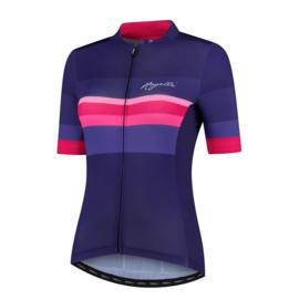 Rogelli Calm dames fietsshirt korte mouwen - blauw/roze