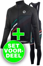 Rogelli Team winter kledingset - zwart