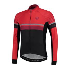Rogelli Hero heren fietsshirt lange mouwen - zwart/rood/bordeaux