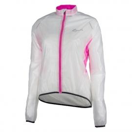 Rogelli Canelli dames fiets regenjack - transparant/roze
