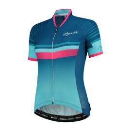 Rogelli Impress dames fietsshirt korte mouwen – blauw/roze