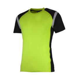 Rogelli Dutton hardloopshirt heren korte mouw - fluor/zwart/wit