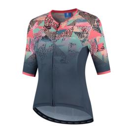 Rogelli Animal dames fietsshirt korte mouwen – blauw/coral (eco)