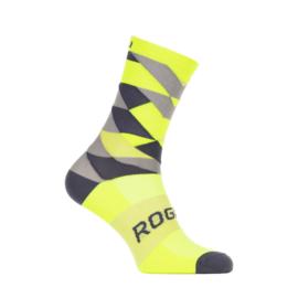 Rogelli RCS-14 zomer fietssokken - fluor/zwart/grijs