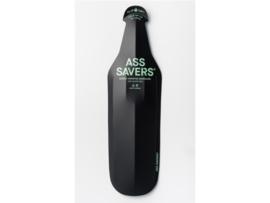 Ass Savers Wide vouwbaar spatbord - extra breed - zwart