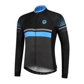 Rogelli Hero heren fietsshirt lange mouwen - grijs/zwart/blauw