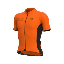 Alé Color Block fietsshirt korte mouwen - oranje/zwart