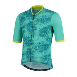 Rogelli Nature fietsshirt korte mouwen - groen/lime (eco)