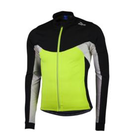 Rogelli Recco 2.0 kinder fietsshirt lange mouwen - fluor/zwart/wit
