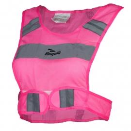 Rogelli Manhattan hardloop reflectievest - fluor roze