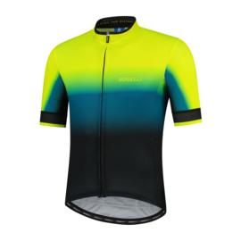 Rogelli Horizon fietsshirt korte mouwen - blauw/fluorgeel