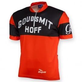 Rogelli Goudsmit-Hoff retro fietsshirt korte mouwen
