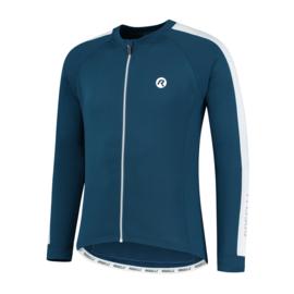 Rogelli Explore heren fietsshirt lange mouwen - blauw/wit