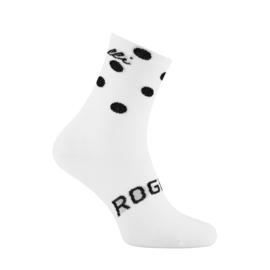 Rogelli Sprinkle dames zomer fietssokken - wit/zwart